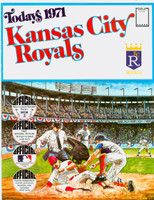 1971 Dell Official Stamp Booklet Kansas City Royals Near-Mint Plus