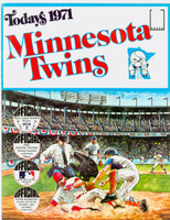 1971 Dell Official Stamp Booklet Minnesota Twins Excellent to Mint