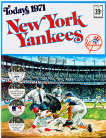 1971 Dell Official Stamp Booklet New York Yankees Near-Mint Plus