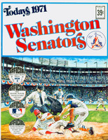1971 Dell Official Stamp Booklet Washington Senators Near-Mint Plus