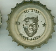 1967 Coke Caps All-Stars 19 n Hank Aaron Atlanta Braves Excellent to Mint