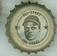 1967 Coke Caps All-Stars 21 n Joe Torre Atlanta Braves Excellent to Mint