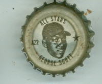 1967 Coke Caps All-Stars 22 George Scott Boston Red Sox Excellent to Mint