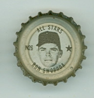 1967 Coke Caps All-Stars 26 n Ron Swoboda New York Mets Near-Mint