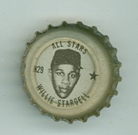 1967 Coke Caps All-Stars 29 n Willie Stargell Pittsburgh Pirates Excellent to Excellent Plus
