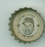 1967 Coke Caps All-Stars 30 Jim Nash Kansas City Athletics Excellent to Mint