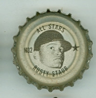 1967 Coke Caps All-Stars 32 n Rusty Staub Houston Astros Excellent to Mint