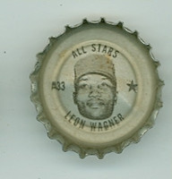1967 Coke Caps All-Stars 33 Leon Wagner Cleveland Indians Excellent to Excellent Plus