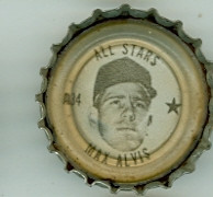 1967 Coke Caps All-Stars 34 Max Alvis Cleveland Indians Excellent to Mint