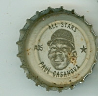 1967 Coke Caps All-Stars 35 Paul Casanova Washington Senators Excellent to Mint