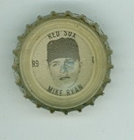 1967 Coke Caps Red Sox 9 Mike Ryan Boston Red Sox Excellent to Mint
