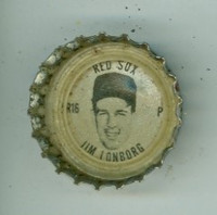 1967 Coke Caps Red Sox 16 Jim Lonborg Boston Red Sox Excellent to Mint