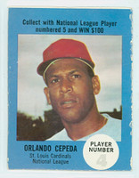 1968 Atlantic Oil Orlando Cepeda St. Louis Cardinals Very Good