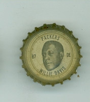 1964 Coke Football Packers 20 Willie Davis Green Bay Packers Very Good