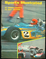 1970 Sports Illustrated June 8 Al Unser Indy Victory Excellent lt wear on binding, overall clean