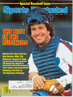 1983 Sports Illustrated April 4 Gary Carter (loose at the staples) Very Good