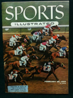 1955 Sports Illustrated February 28 Hialeah Park Very Good to Excellent minor crease on cover, overall sharp, contents great