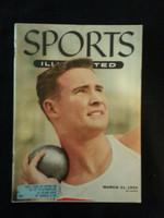 1955 Sports Illustrated March 21 Parry O' Brien Very Good to Excellent lt fraying at top