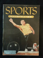 1955 Sports Illustrated March 28 Steve Nagy - Bowling Very Good to Excellent bruise on top of cover