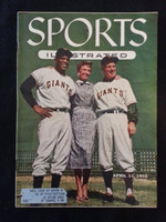 1955 Sports Illustrated April 11 Willie Mays - Leo Durocher (55 Topps Card Insert NMT - Banks, Spahn…) Excellent lt wear on top right corner