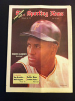 1970 Sporting News February 28 Roberto Clemente Excellent to Mint lt. center fold from mailbox, otherwise sharp