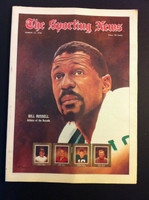 1970 Sporting News March 14 Bill Russell Excellent to Mint lt. center fold from mailbox, otherwise sharp