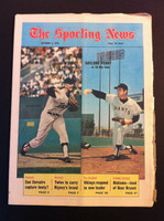 1970 Sporting News October 3 Gaylord and Jim Perry Excellent lt. center fold from mailbox, some fraying on edges