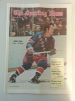 1971 Sporting News February 6 Brad Park Excellent to Mint lt. center fold from mailbox