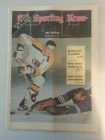 1971 Sporting News February 20 Phil Esposito Excellent to Mint lt. center fold from mailbox