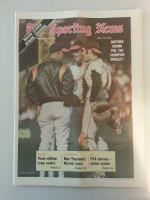 1971 Sporting News February 27 Jim Palmer Excellent to Mint lt. center fold from mailbox