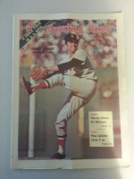 1971 Sporting News June 19 Sonny Siebert Excellent to Mint lt. center fold from mailbox