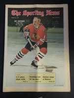 1972 Sporting News April 22 Bobby Hull (Heavy fold from Original Mailer - o/w Sharp!) Excellent