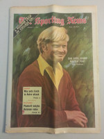1972 Sporting News August 5 Jack Nicklaus Excellent to Mint lt. center fold from mailbox
