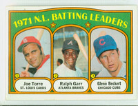 1972 Topps Baseball 85 NL Batting Leaders Near-Mint