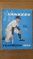 1959 Yankees Yearbook Jay Very Good