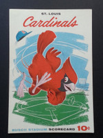 1960 Cardinals Scorecard Aug 28 GM 1 vs Pirates Scored - Simmons vs Haddix (Stl 5-4, Grammas HR) Excellent to Mint