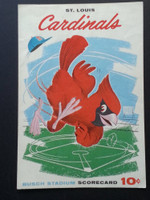 1960 Cardinals Scorecard Aug 7 GM 1 vs Reds Scored - Jackson vs Hook (Cin 18-4, Moryn HR, Lynch Grand Slam) Very Good