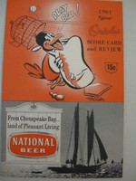 1961 Orioles Program vs Athletics (28 pg) Unscored Near-Mint [Very lt wear on cover, feels uncirculated]