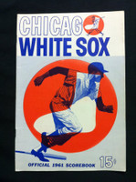 1961 White Sox Game Program vs Orioles (28 pg) Scored May 31 - Baumann vs Estrada (Chi 9-4, HR Smith, Landis) Excellent [Lt wear on cover, sm tear on reverse]