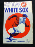 1961 White Sox Game Program vs Athletics (28 pg) Unscored May 13 - Pierce vs Walker (Chi 10-1, Minoso 2 HR) Very Good [No scoring, visiting line-up written in pencil]