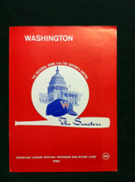 1962 Senators Program vs Red Sox (28 pg) Unscored Excellent to Mint [Very Clean]
