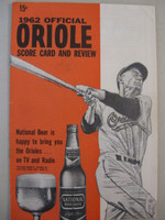 1962 Orioles Program vs Tigers (28 pg) Scored Sep 3 Hall vs Mossi (Det 1-0) Excellent [Lt wear on both covers; scored neatly in pencil]