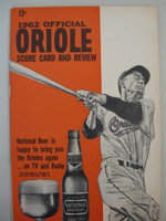 1962 Orioles Program vs Senators (28 pg) Unscored Near-Mint [Very lt wear on cover, feels uncirculated]