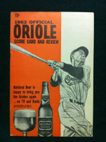 1962 Orioles Game Program vs White Sox Scored - Estrada vs Buzhardt Excellent to Mint