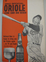 1962 Orioles Program vs Twins (28 pg) Unscored Near-Mint [Very lt wear on cover, feels uncirculated]