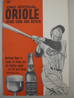 1962 Orioles Program vs Angels (28 pg) Unscored Near-Mint [Very lt wear on cover, feels uncirculated]