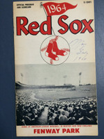 1964 Red Sox Program vs Tigers (24 pg) Unscored Very Good to Excellent [Date WRT on cover, sl staining, contents very clean]