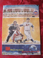 1964 Mets Game Program vs Giants (24 pg) Unscored Series Played May 29-31 Excellent to Mint [Very sl cover wear, lt vert compact fold; contents fine]
