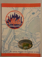 1967 Mets Game Program vs Cardinals (32 pg) Unscored Series Played June 30-July 2 Very Good to Excellent [Vert compact fold lines; wear on cover; contents fine]