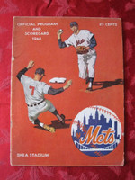 1968 Mets Game Program vs Cardinals Unscored Series Played August 30-September 1 Fair [Binding mostly split; stray WRT on cover; sm tears, some wear; contents fine]